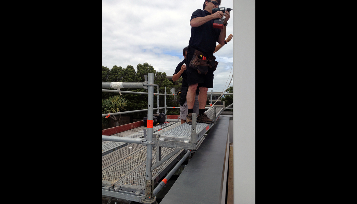 Waiheke Roof Top - Installation