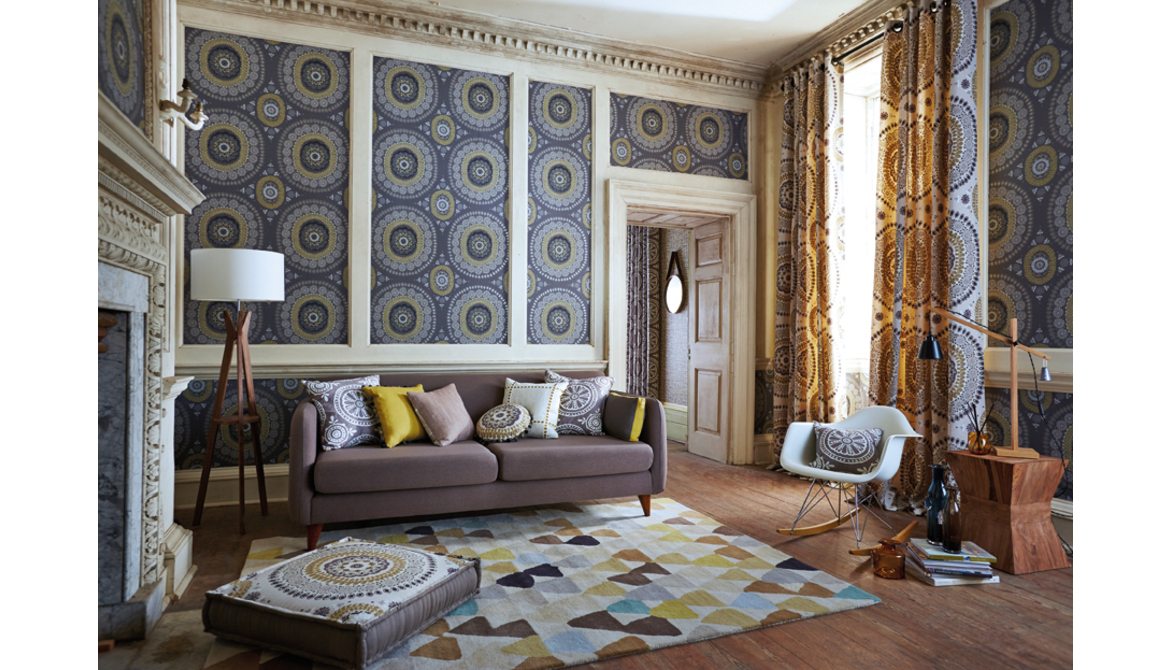 Jardin Boheme Wallpaper & Eyelet Curtains