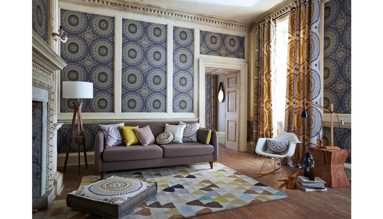 Jardin Boheme Wallpaper & Eyelet Curtains