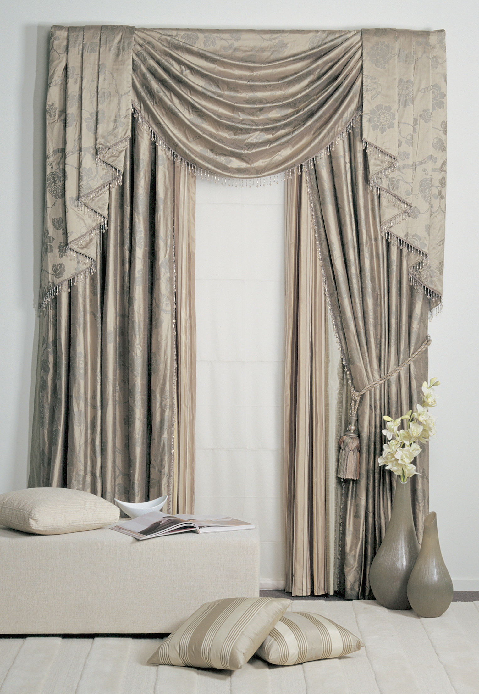 Victorian velvet curtains -  Curtains At Lahood Window Furnishings Auckland
